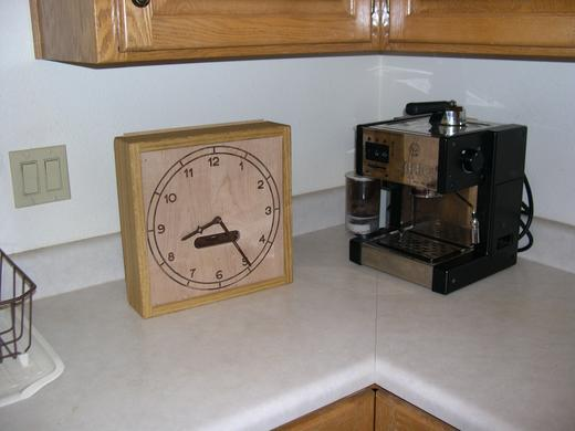 clock on kitchen counter