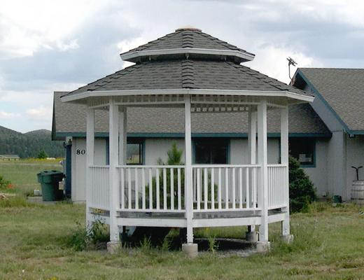 Photo of gazebo with roof  finished