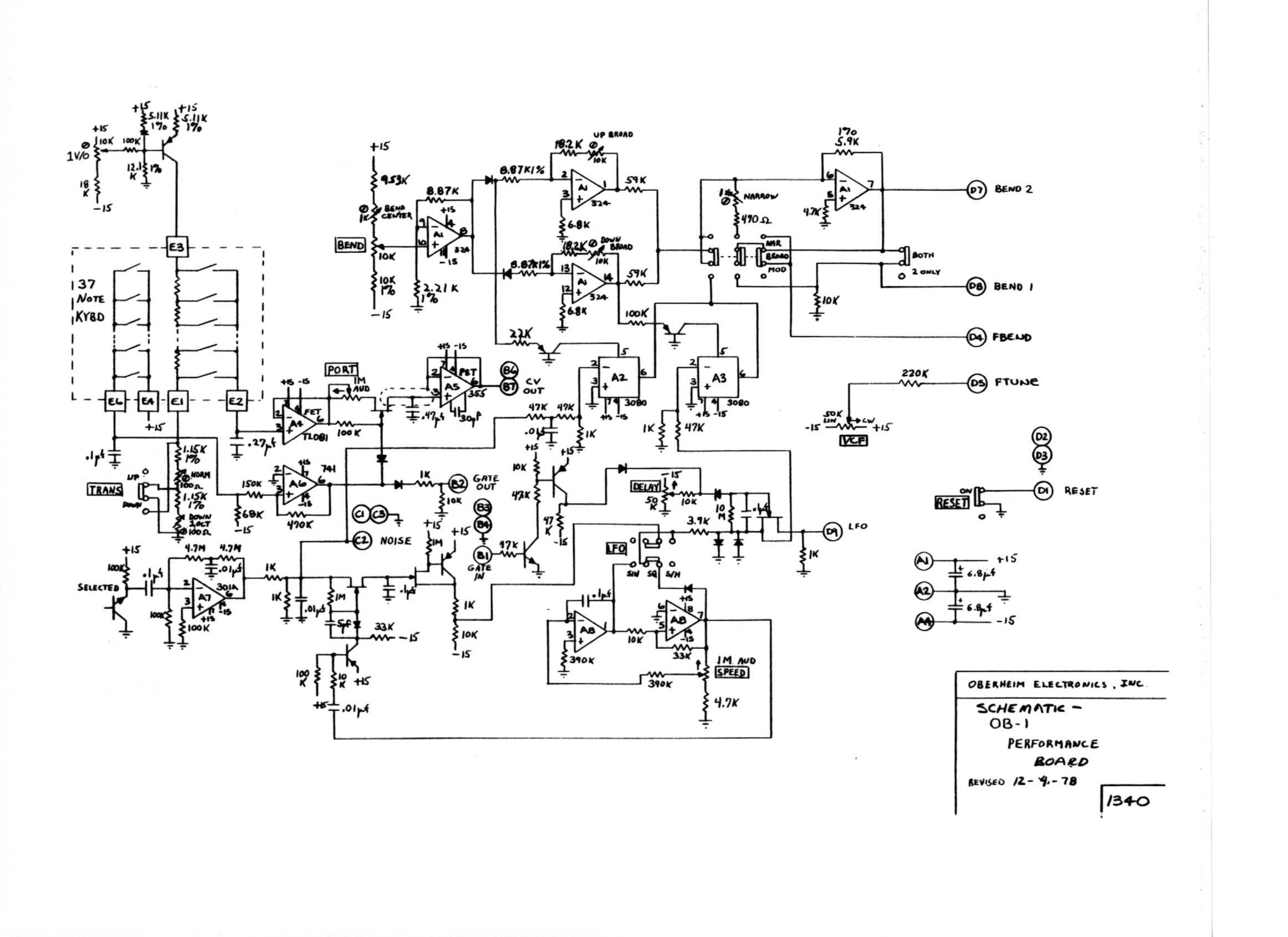 Miscellaneous Oberheim Files Midi Cable Schematic Ob 1 Performance Board