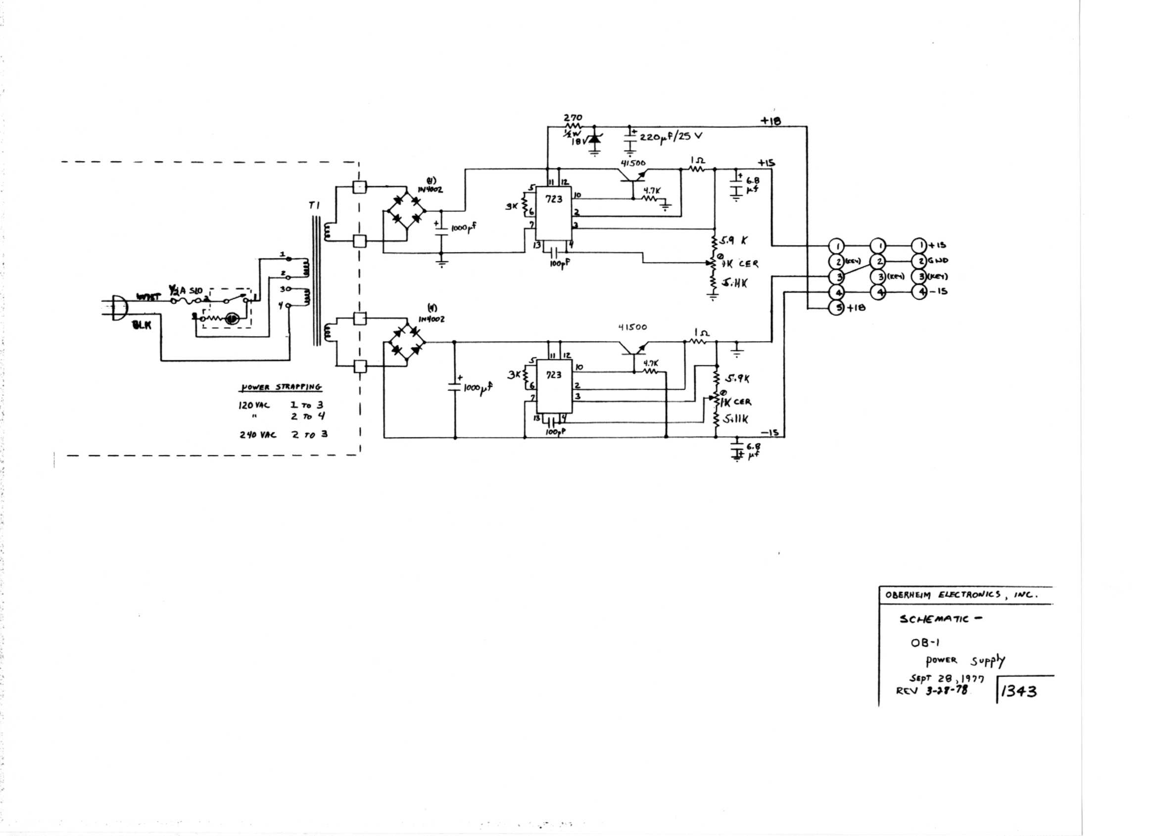 Miscellaneous Oberheim Files Envelope Schematic Ob 1 Generator Chip Board
