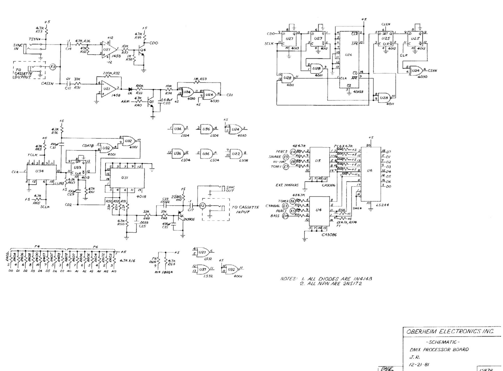 Miscellaneous Oberheim Files Dmx Control Wiring Diagram Free Download Schematic Processor Board 2 Of 3