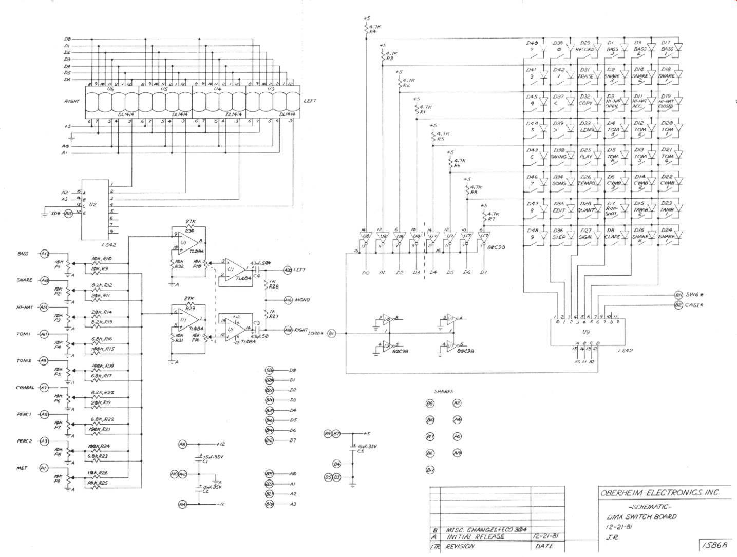 miscellaneous oberheim files DMX 5 Pin 3-Pin Schematic dmx switch board schematic